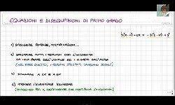 Matematica: Equazioni e disequazioni polinomiali