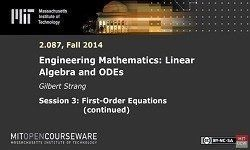 Engineering Mathematics: Linear Algebra and ODEs - MIT