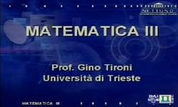 Matematica III - UniNettuno