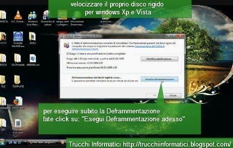 Deframmentazione disco per velocizzare Windows